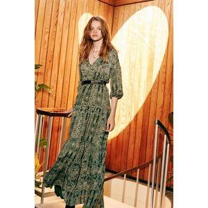 URBN Ecote Joni Boho Long Sleeve Maxi Dress